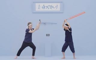 Houd epische zwaard gevechten tegen je tegenspeler!