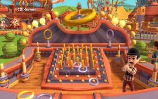 Het doel van deze WiiU minigame is om de ringen rond de stokken te krijgen!