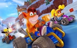 Speel als Crash Bandicoot en zijn vrienden en ga op jacht naar goud in deze nieuwe race game!