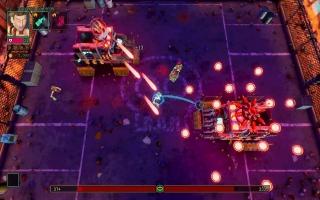De gameplay wordt gekenmerkt door een mix van roguelite en twin stick-shooter.