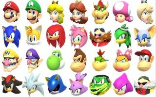 Je kunt voor elk evenement tussen 21 personages van Mario en Sonic kiezen.