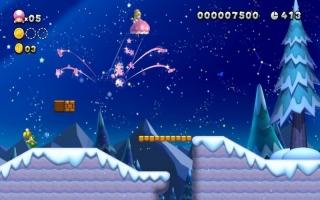Dankzij de Super Crown kan Toadette veranderen in Peachette. Ze kan extra lang zweven!