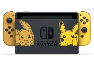 Er bestaan meerdere varianten van de Switch, zoals dit model gebaseerd op Pokemon Let's Go Pikachu en Let's Go Eevee.