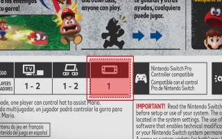 Switch-games die handheld ondersteunen en dus compatibel zijn met Switch Lite, hebben dit icoontje op de achterkant van het doosje.