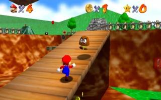 Super Mario 64 was Mario's eerste 3D-avontuur (1997). Deze game kent een verbeterde resolutie op de Switch.