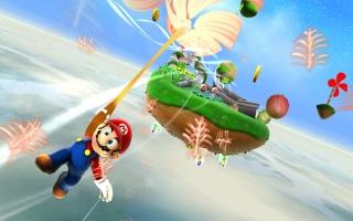 In 2007 vloog Mario door de ruimte in Super Mario Galaxy (Wii). De Joy-Cons zorgen voor eenzelfde spelervaring!