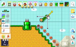 De leveltool van Super Mario Maker 2 kent vele nieuwe toevoegingen, zoals hellingen!