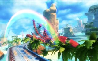 Race op de vele prachtige locaties uit het Sonic universum.