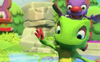 Speel als de Kameleon Yooka en de vleermuis Laylee!